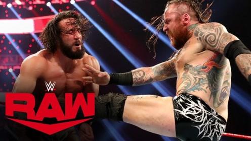 【RAW1384期】布莱克单脚勾住对手脖子 反身黑暗旋风脚击败托尼尼斯