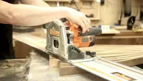 一张木板,给它加工成千片木条加入环氧树脂,成品太亮眼了!