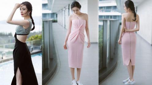 杨幂参加电影节,两套礼服抹胸和露腰美成焦点,姜还是老的辣!