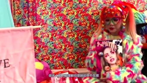 """国外""""彩虹女孩"""",从头到脚全是彩虹颜色,网友:太梦幻了!"""