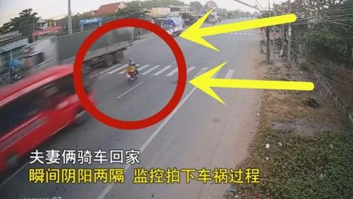 电动车目无法纪,强闯红灯,这样的后果让她不能承受!监控记下全过程!