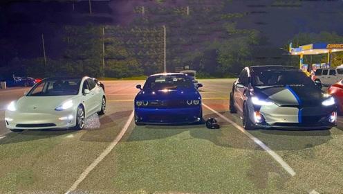 美系肌肉车和电动车的差距有多大?起步瞬间一目了然