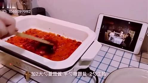 番茄虾仁意面,宝宝老人年轻人都可以吃的一道美食