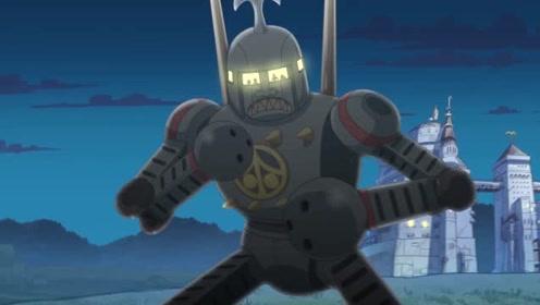 小师弟操纵铁金刚使用武术技巧智斗二齿魔