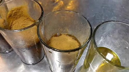 印度街头奇葩小吃,小哥啤酒加辣椒