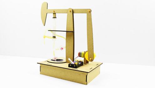 《创客g坊》原创科技小制作,抽油机模型语音版安装教程