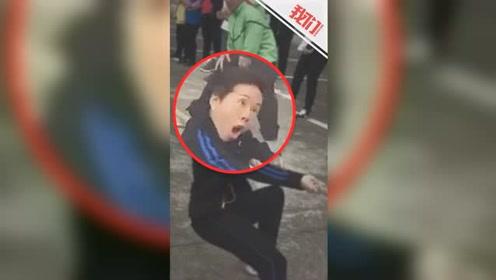 """女子参加拔河比赛因夸张表情蹿红 表情魔性喜感被称""""表情姐"""""""