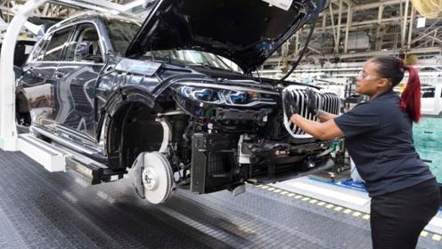 德国工业的确牛!视频宝马X7生产全过程,车间基本没有人!