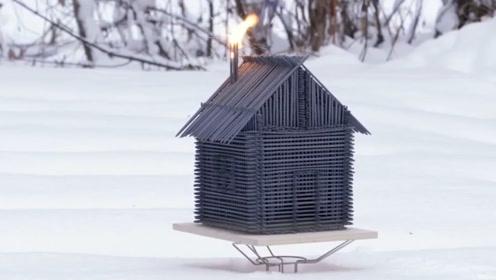 用仙女棒来搭建房子,点燃有多壮观?真是太美丽了吧