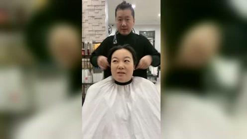姑姑剪完头发不敢回家系列,瞬间年轻20岁姑父都要开心死了!