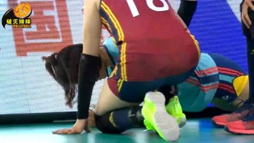 """意外突发!天津小自由人撞广告板救球""""戳到手指"""",你能想象她有多疼吗?"""