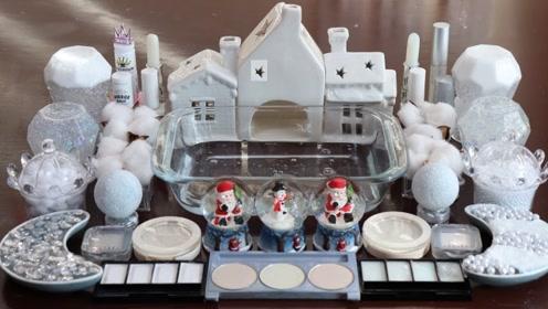 创意随心玩:白色圣诞节 化妆泥史莱姆放松玩玩