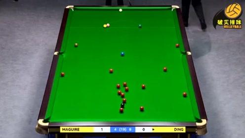回放:斯诺克英锦赛决赛丁俊晖vs马奎尔第13局 马奎尔单杆103分获胜
