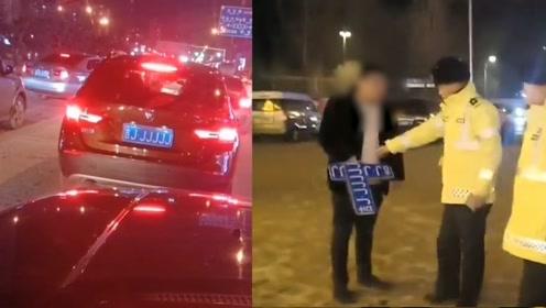 男子挂吉JJJJJJ车牌频繁招摇过市 面对交警上门质询秒怂