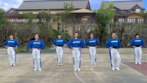 流行舞曲广场舞《野花香》网红三组双人操,轻松学会