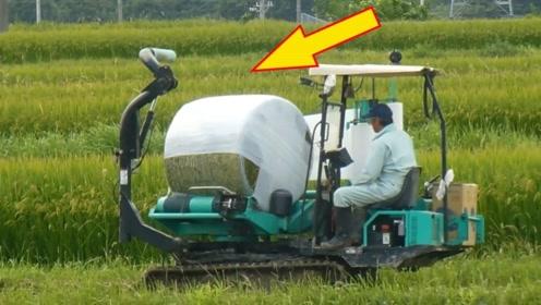 """日本耗资2.7亿研发收割机,号称""""最先进""""机械,实现全自动施工"""