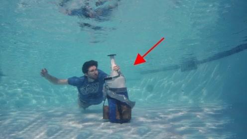 在水下打开一罐液氮会发生什么?打开的那一刻,网友:恍如仙境!