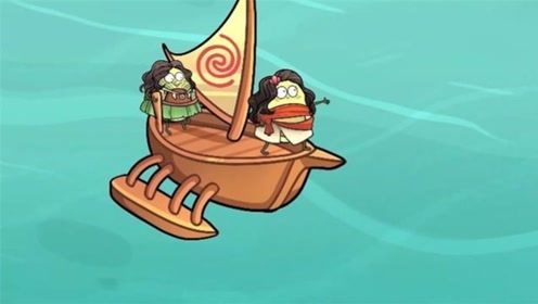 牛油果乘船寻宝藏,不料半路遇到狂风骤雨,宝藏竟掉进了海里!