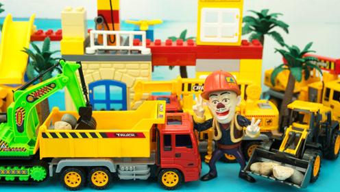 工程车玩具 光头强的城市重卡建筑车队
