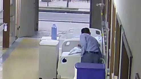 监控拍下全程!男子溜进医院淡定偷手机,被抓时还装茫然脸