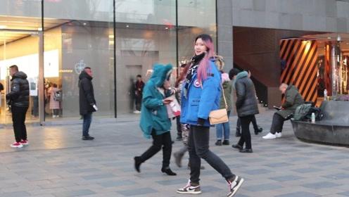 三里屯街拍:冬天,人流减少,但愿意配合的潮人却相对增多了