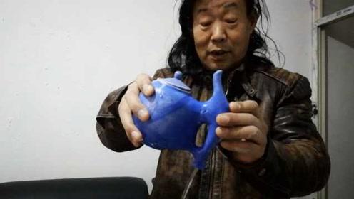 物理有多奇妙?男子发明神奇水壶,按孔就出水获得国家专利