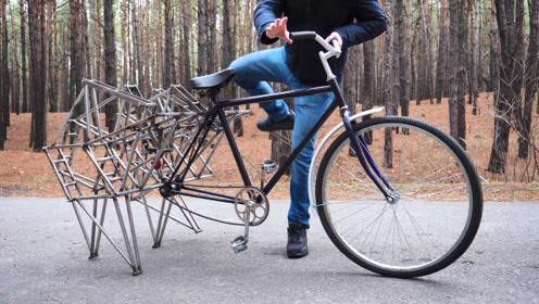 什么样的脑洞!才能做出这样的自行车,走路上百分百的回头率
