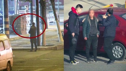 """神操作!监拍:河南男子用望远镜""""精准盗窃"""" 民警完美配合抓捕"""