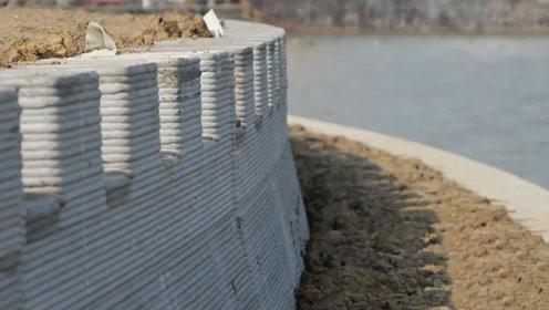 中国首创!全球首个3D打印护岸墙,成本低工时短更环保