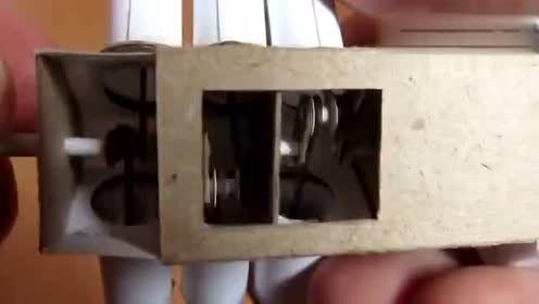 纸做的6缸发动机