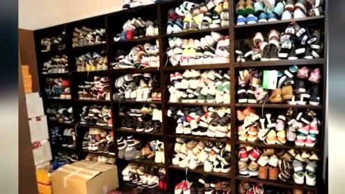 如果说张雨绮鞋柜堪比商场 陈冠希简直就是批发市场!