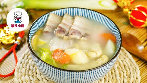 原汁原味的无鸡精腌笃鲜,肉质肥美,春笋脆嫩