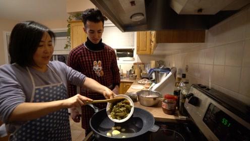 冰雪之国加拿大的跨年夜 混血小鲜肉学到了正宗川菜的秘密