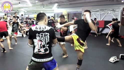 hbw欧式泰拳教学-超快拳防反 飞膝风火轮终结技#韩博惟