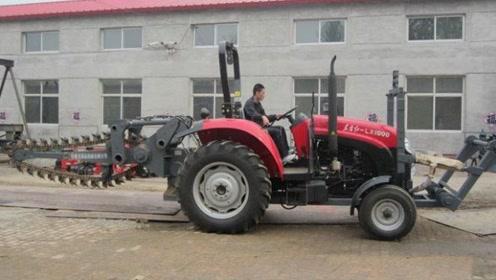 农民朋友有福了,开沟培土再也不用那么费劲,一个机器顶十个劳动力
