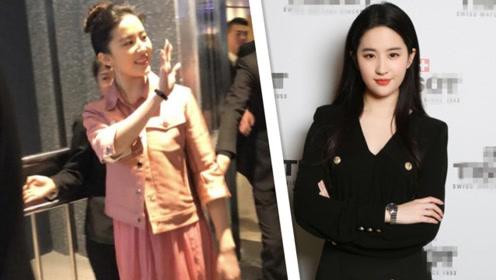 刘亦菲身着黑裙亮相,脸部圆润遭吐槽:又胖了?