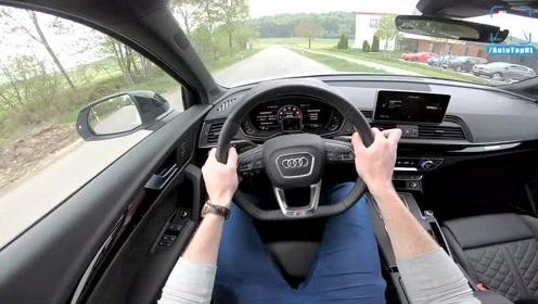2018 奥迪Audi SQ5开上公路,已对奔驰GLC43 AMG抛之脑后了