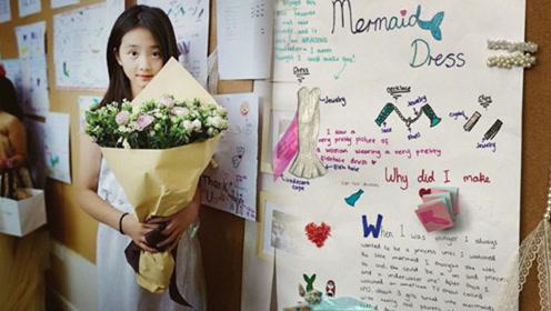 黄磊女儿多多穿自己设计礼服,近照颜值爆表,纯英文介绍设计理念