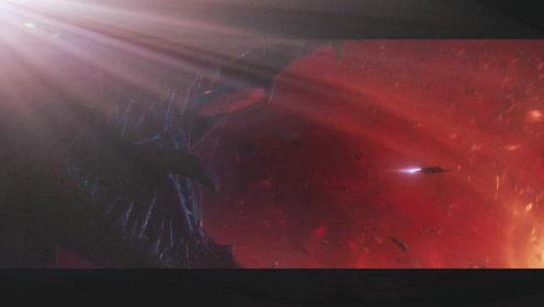 在太空迷路的小队,黑洞旁边遇到巨大未知的生物!