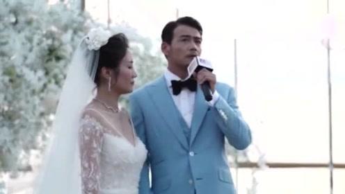 杨烁婚礼现场哽咽谈和老婆八年的感情落泪 真让人羡慕!