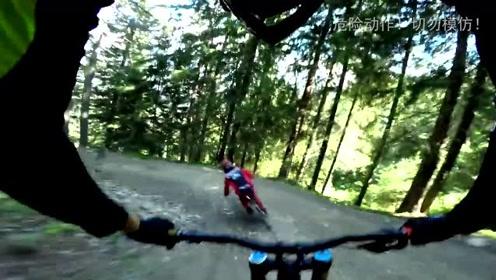 穿越在乡间小道!越野自行车运动员的狂野骑行!
