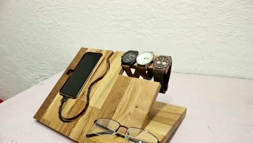 大神自制手机置物架,简直是一个完美的艺术品