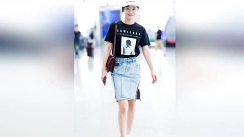 """欧阳娜娜化身""""叛逆""""少女 印花look玩转街头潮"""