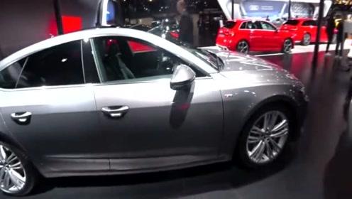 车展实拍全新奥迪A7,当打开无框车门才是梦幻的开始