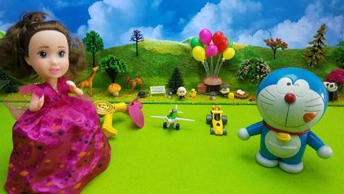 芭比公主哆啦a梦玩转变形金刚奇趣蛋玩具蛋