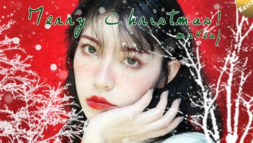 圣诞麋鹿亮片妆