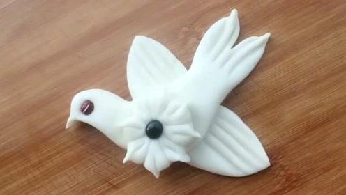 花样面食之小鸟花卷,做法简单易学,可爱又漂亮!