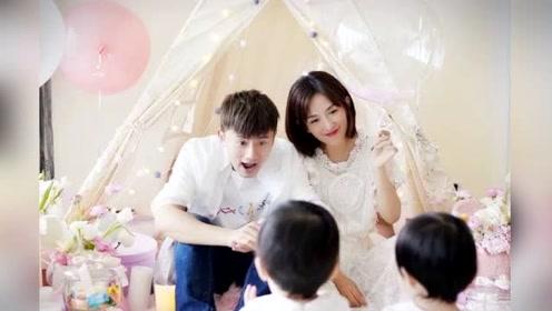 张杰谢娜为双胞胎女儿庆生 一家四口合影温馨幸福