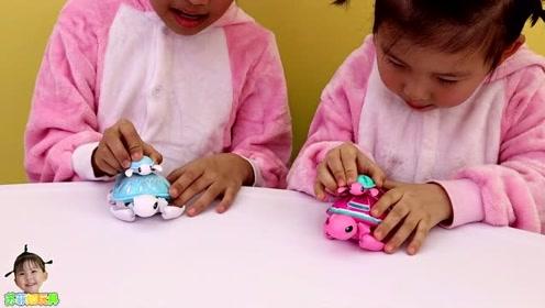 《苏菲娅玩具》苏菲娅和艾米儿带着海龟妈妈比赛,谁赢了呢?