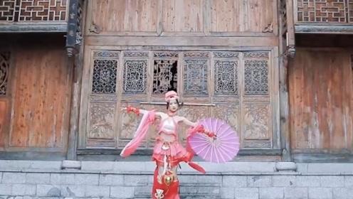 古风慢摇,伞美人跳舞,带你领略江南的风采!